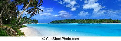 ii, panoramique, lagune