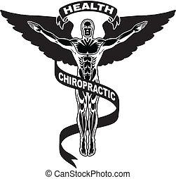ii, symbole, chiropraxie