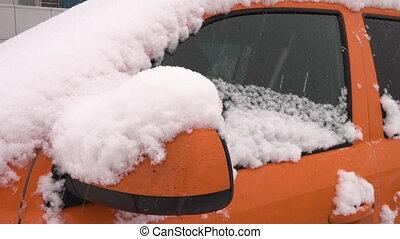 il, voiture, neige