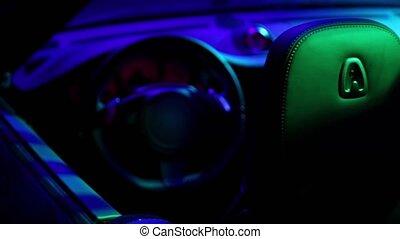 illumination, cabriolet, cabine, coloré