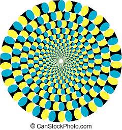 illusion., illustration, vecteur