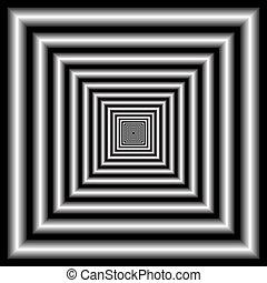 illusion optique, tunnel.