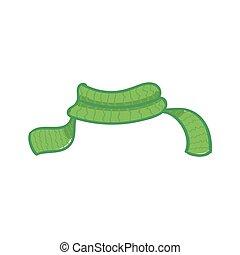 illustration, arrière-plan., vecteur, blanc vert, écharpe