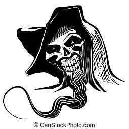 illustration artistique, crâne