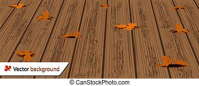 illustration, automne, vecteur, fond, ton, design.