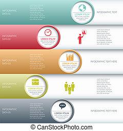 illustration., business, banner., moderne, vecteur, infographics, options