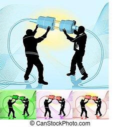 illustration, concept, business, relier