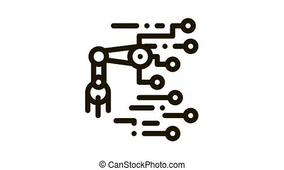 illustration, contour, robot, puce