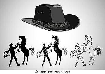 illustration, cow-boy