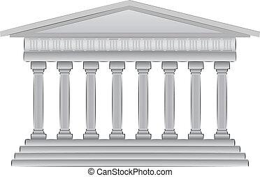 illustration, dôme, grec, vecteur
