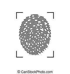illustration, empreinte doigt, blanc, isolé, fond, vecteur
