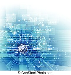 illustration, fond, vecteur, technologie numérique, futuriste