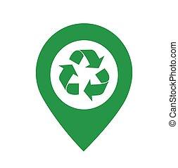 illustration, icône, recycler, vecteur