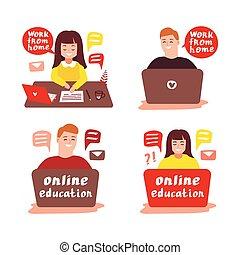 illustration, ligne, 2, education