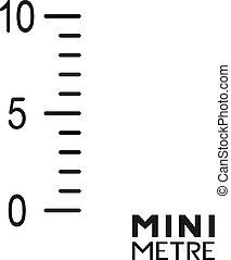 illustration, mètre, mini