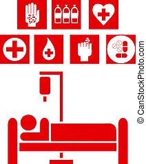 illustration médicale, signes