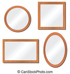 illustration, miroirs