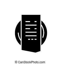 illustration, note, isolé, signe, vecteur, arrière-plan noir, icône