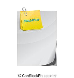 illustration, poste, documents, recherche