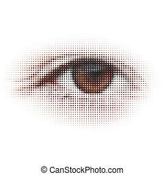 illustration., résumé, -, eps, numérique, 8, eye.