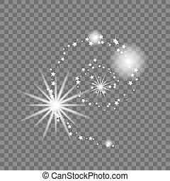 illustration., résumé, forme., vecteur, manière, laiteux, galaxie