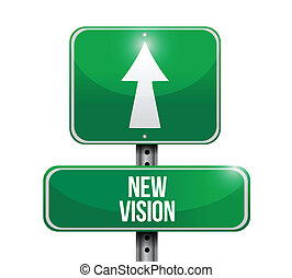 illustration, signe, conception, vision, nouveau, route