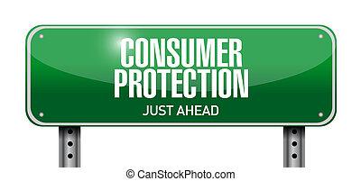 illustration, signe, protection, conception, consommateur, route