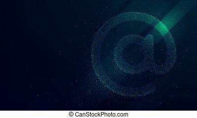 illustration, symbole, vecteur, fond, internet, avenir, technologie, email