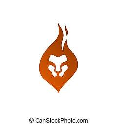 illustration., -, tête, concept, vecteur, animal, logo, puissance, conception, element., symbole., figure, chat, gabarit, créatif, lion, signe., fort, graphique, fierté, sauvage