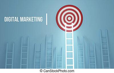 illustration technologie, connaissance, réseau, business, internet, concept., ability..3d, compétence