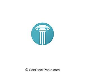illustration, vecteur, gabarit, logo, droit & loi, icône