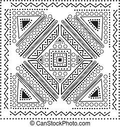 illustration, vecteur, mandala, conception