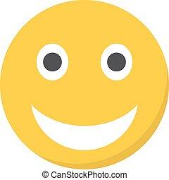 illustration, vecteur, sourire, mouth., ouvert, emoji
