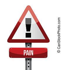 illustrations, douleur, panneaux signalisations