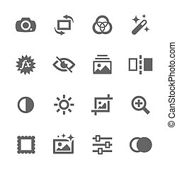 image, édition, icônes