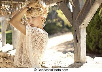 image, blond, mode, girl, sensuelles