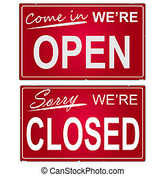 """image, business, signs., """"open"""", """"closed"""""""