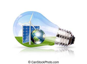 image, cellule, la terre, vent, intérieur, solaire, ampoule, meublé, nasa), lumière, (elements, ceci, turbine