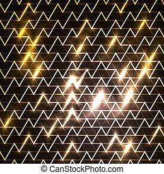 image, en mouvement, sur, bleu, digitalement, jeûne, arrière-plan noir, raies, engendré, lumière
