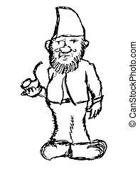 image, fabuleux, dwarf., contes fées, motives