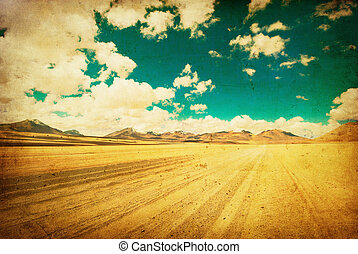 image, grunge, désert, route