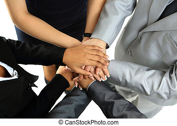 image, mains, partenaires, business, compagnie, symbolizing, autre, sommet, unité, chaque