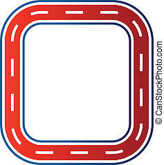 image., race voiture, circuit, cercle, route
