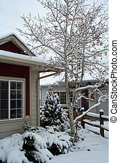 image, stockage, neige, premier