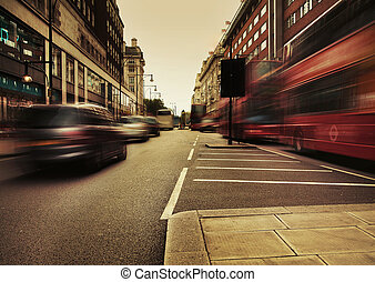 image, surprenant, trafic, présentation, urbain