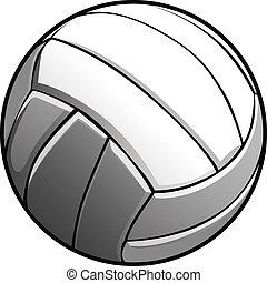 image, vecteur, boule volleyball, icône