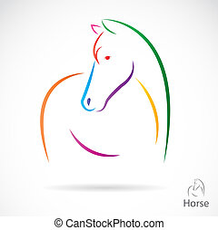 image, vecteur, cheval