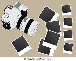 image, vecteur, film appareil-photo