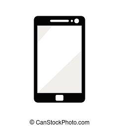 image, vecteur, handphone, silhouette, illustration