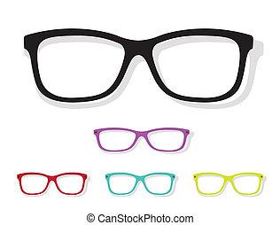image, vecteur, lunettes